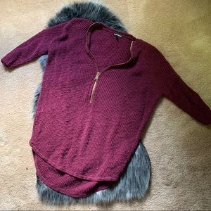Express maroon long sweater